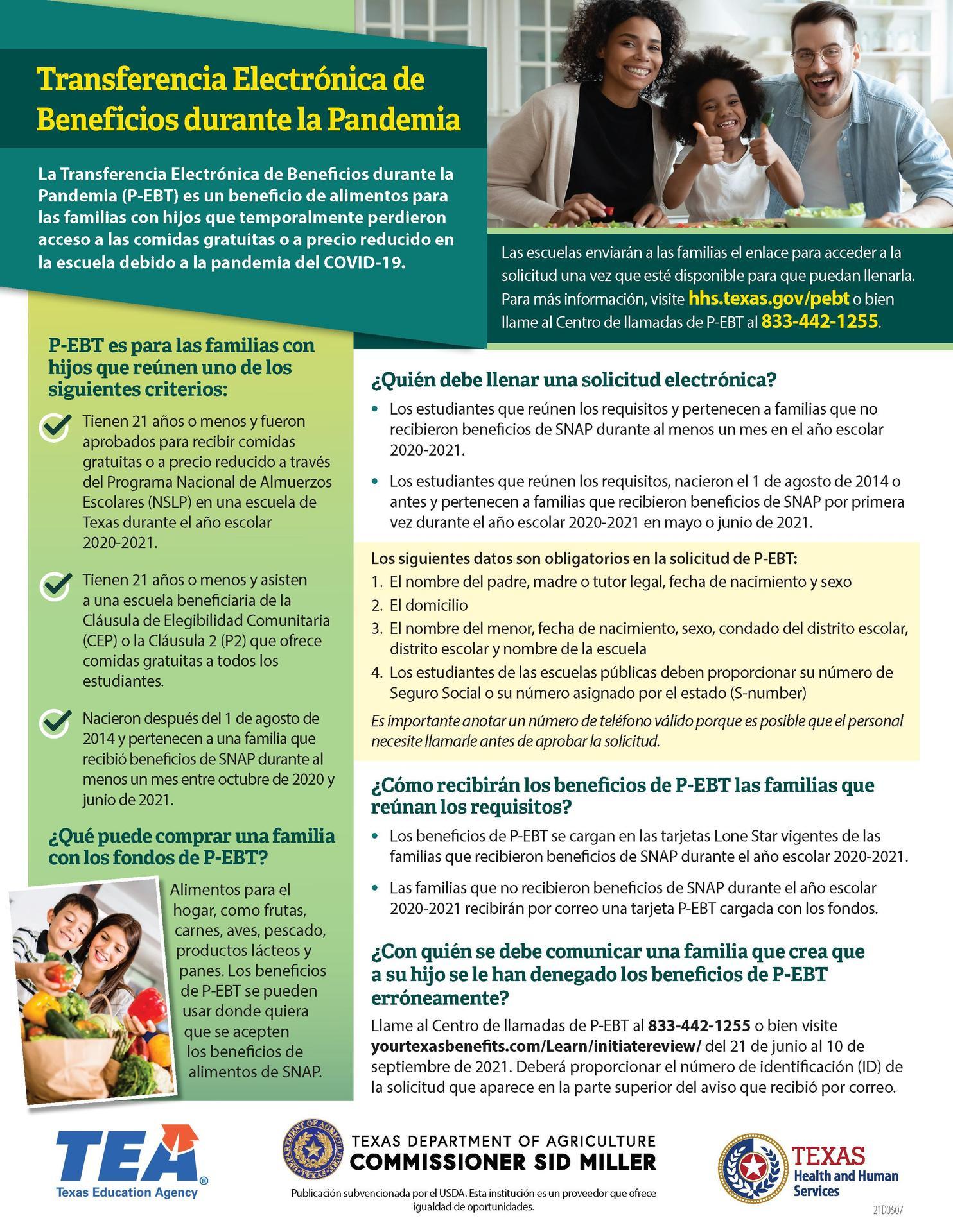 Pandemic EBT Benefits Spanish