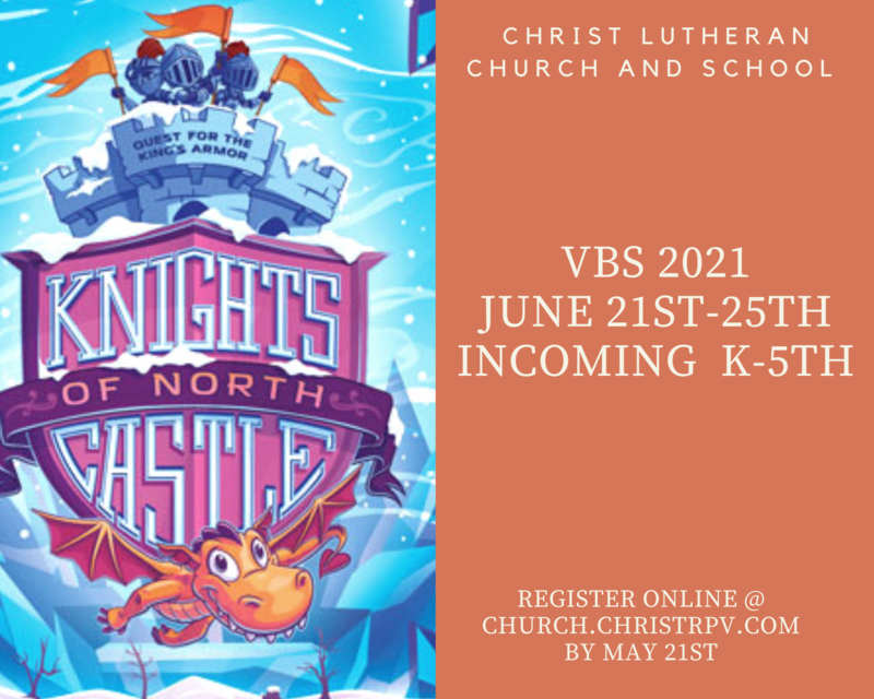 Join us for VBS!  June 21st- 25th from 9:00AM- Noon- FREE & OPEN to Incoming K-5th grade students. Space is limited. Please sign-up by May 21st Featured Photo