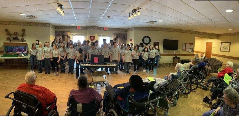 Lakeside Junior High Choir Brings Valentine's Day to Nursing Home Residents Featured Photo