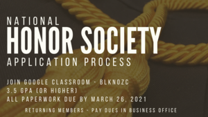 National Honor Society Application Process