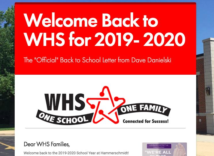 2019-20 Back to School Newsletter Thumbnail Image