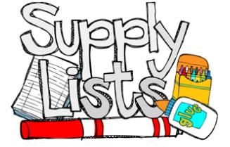 School Supply Lists 2018-2019 Thumbnail Image