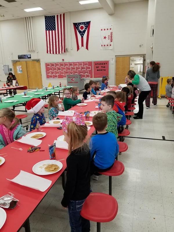 Kindergarten classes enjoyed their Polar Express Pancake Breakfast