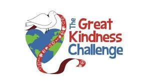 Great Kindness challenge logo in red white & blue coloring