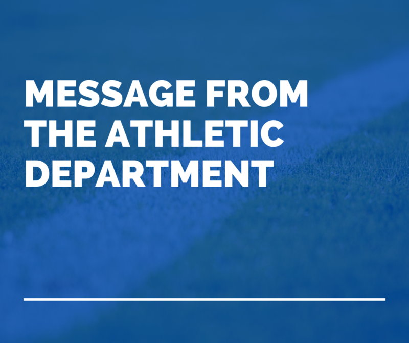 A Message from the OFA Athletic Department Featured Photo