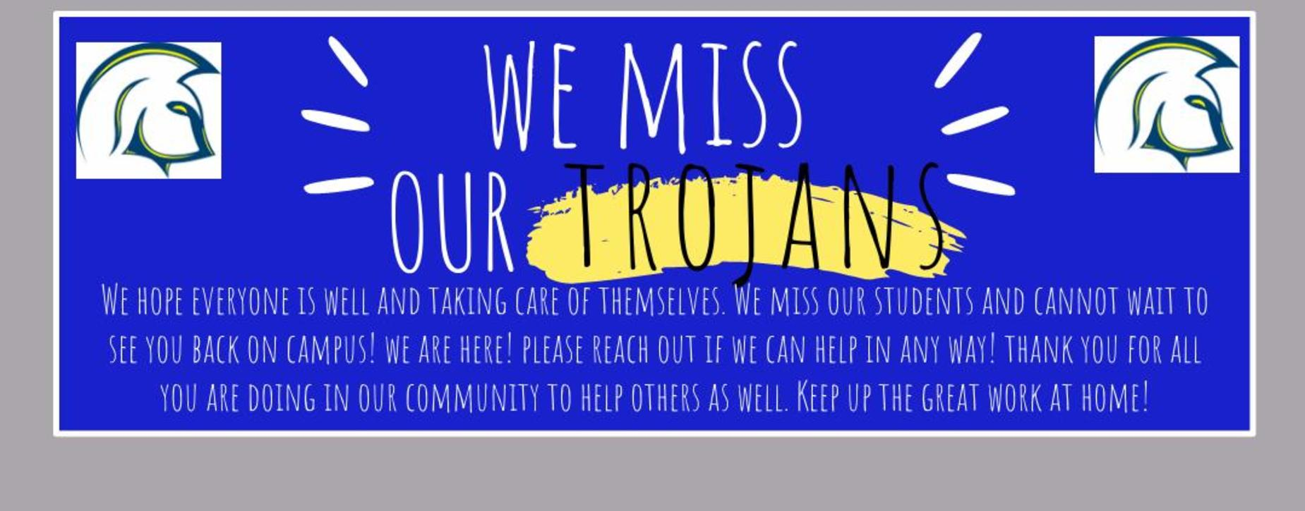 We Miss You Message to our Students