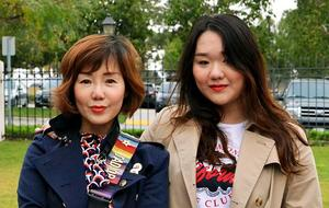 Yian Deng and her mother