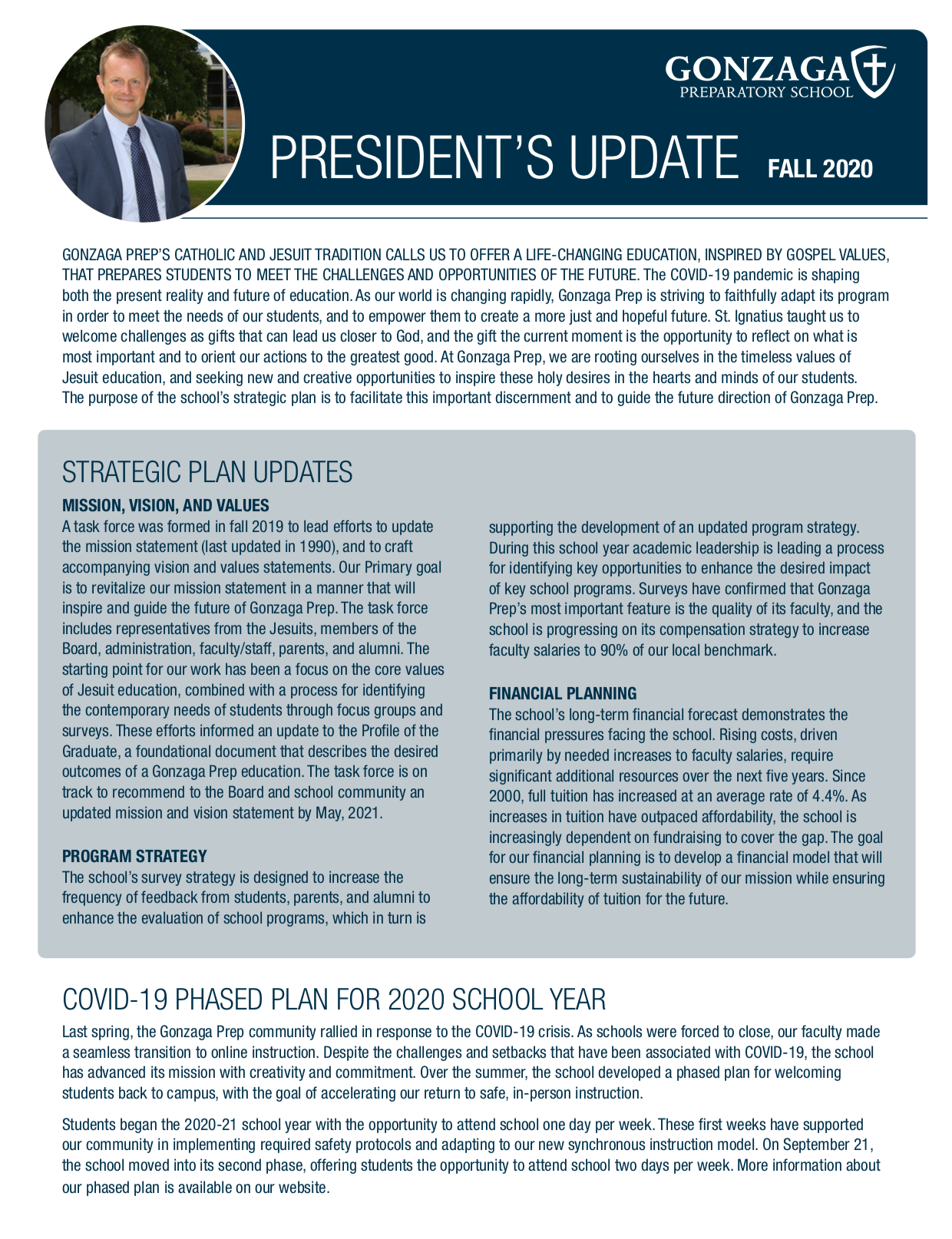 Pres club update