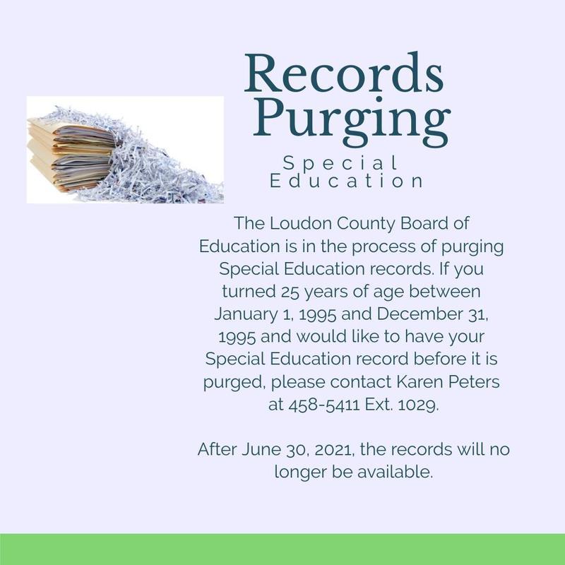 sped records purge