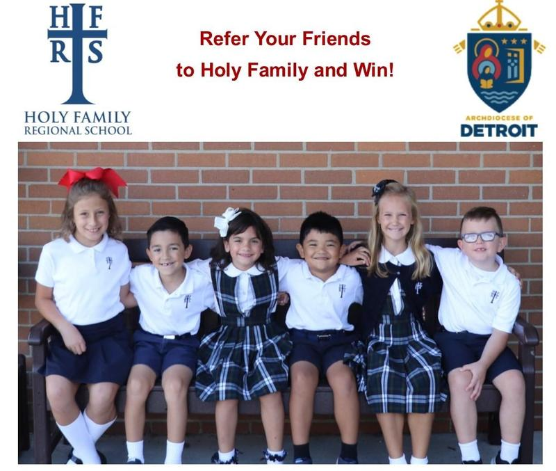 Refer students to Holy Family and win! Featured Photo