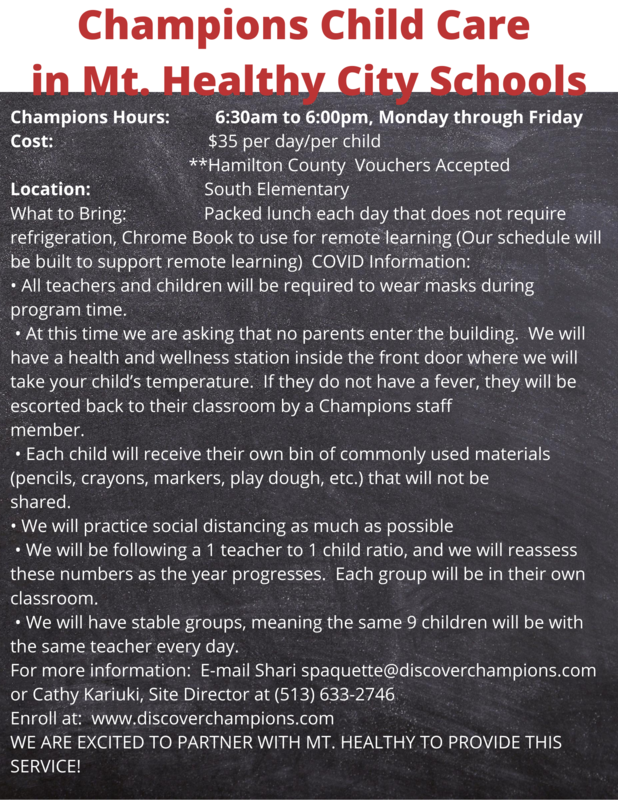 Champions child care flyer