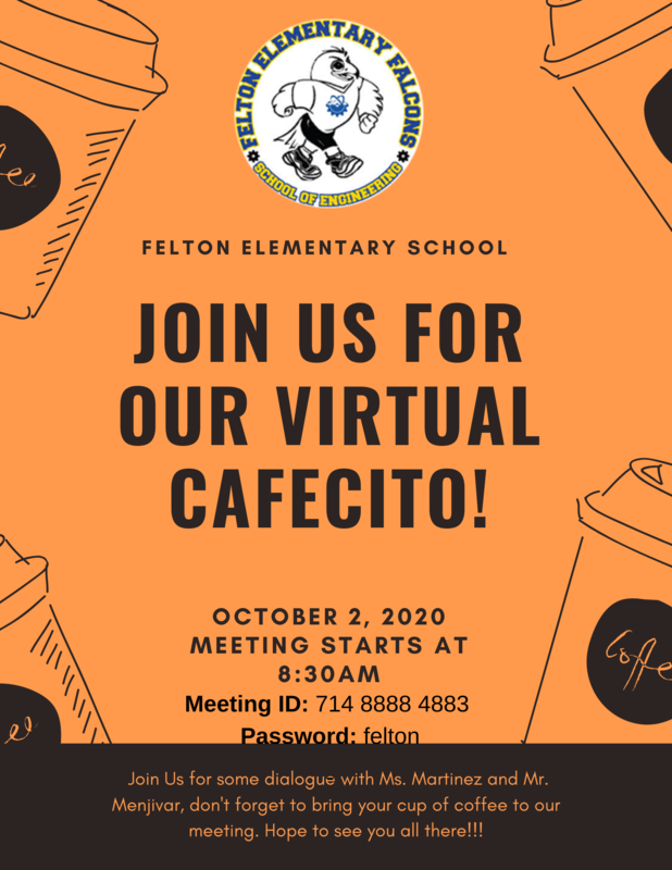 flyer image for Felton cafecito meeting