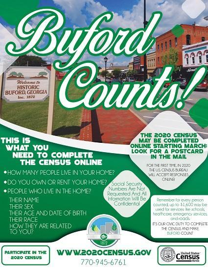Buford Census Flyer