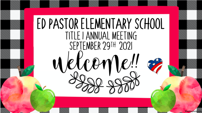September PTO - Title I Annual Meeting Featured Photo