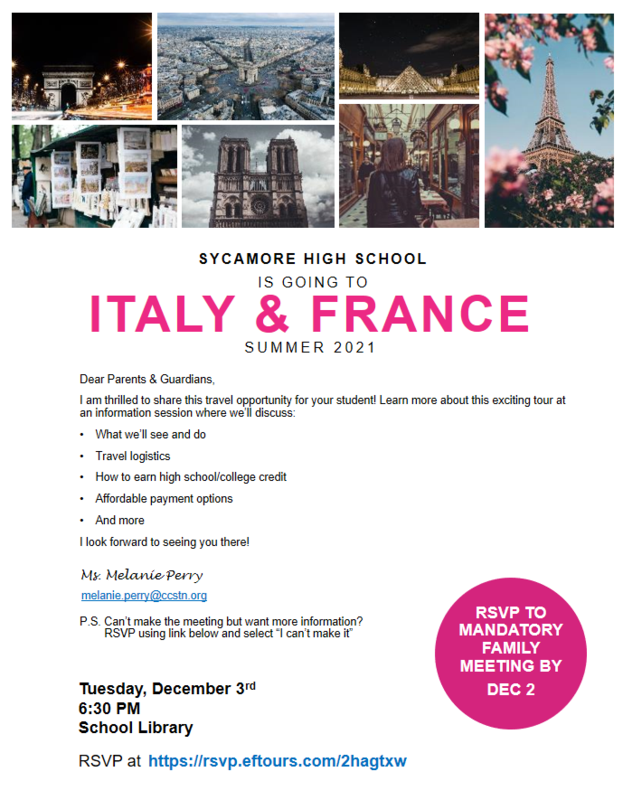 France and Italy Trip