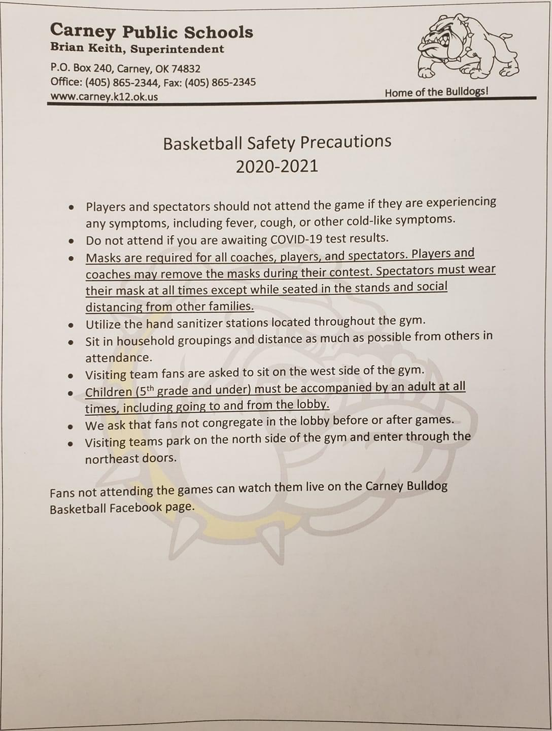 Basketball Safety Precautions