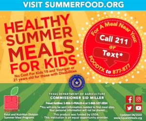 Healthy summer meals for kids information