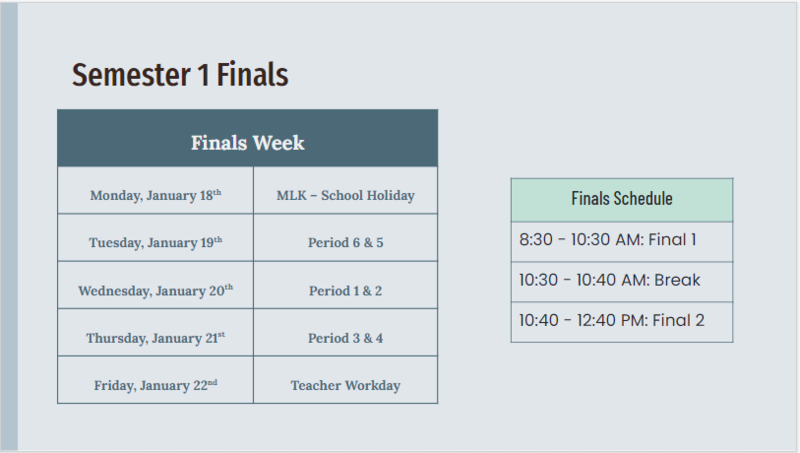 Finals Week Schedule Featured Photo