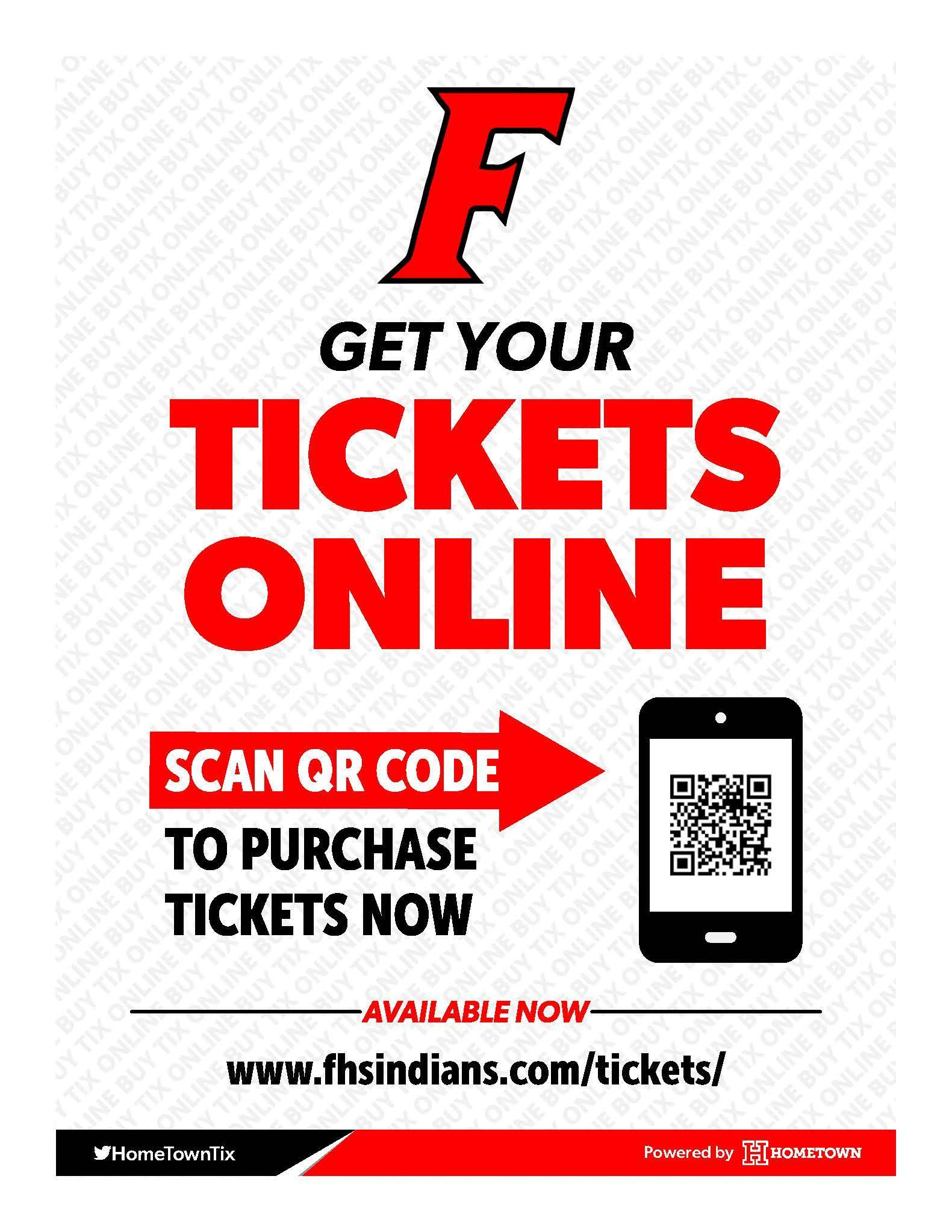 Order your tickets online! This is a flyer directing visitors to the ticketing site on our website.