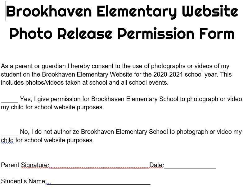 Photo Permission Form