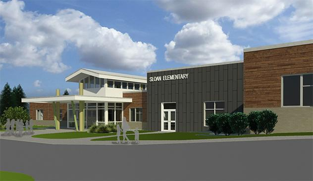 Sloan Intermediate 3-5 School architect rendering