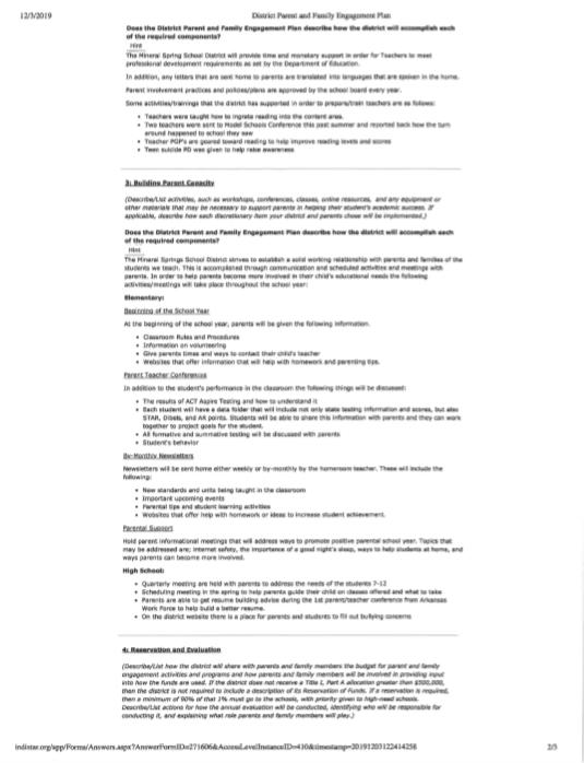 District Paren & Family Engagement Plan pg 2