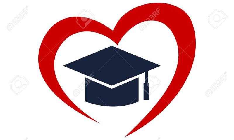 Heart with grad cap