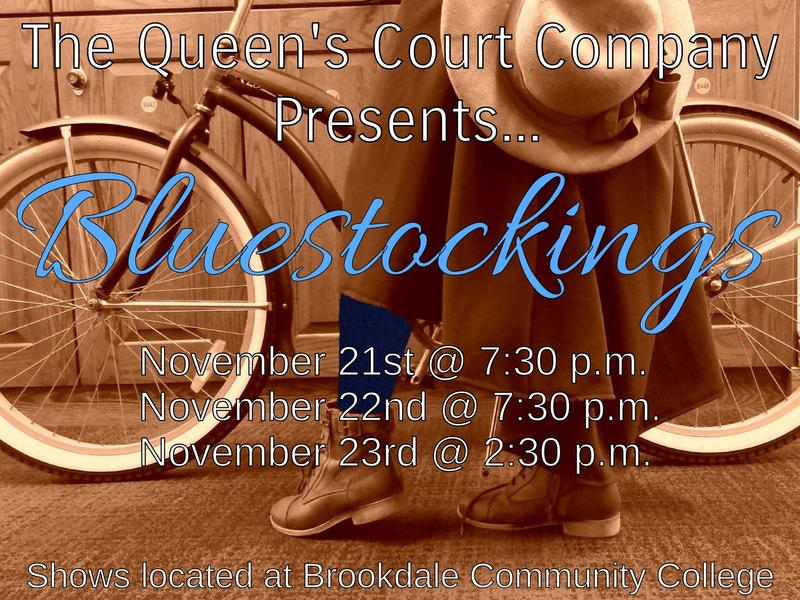 blue stockings play poster