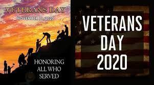 Reminder NO SCHOOL on Wednesday, November 11, 2020 in Observance of Veteran's Day Thumbnail Image