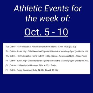 Athletic Schedule