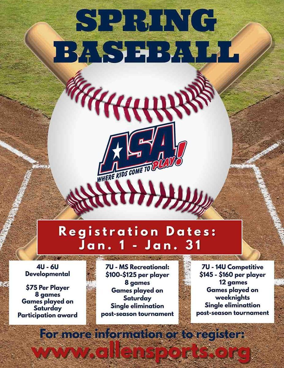 Baseball Spring Flyer