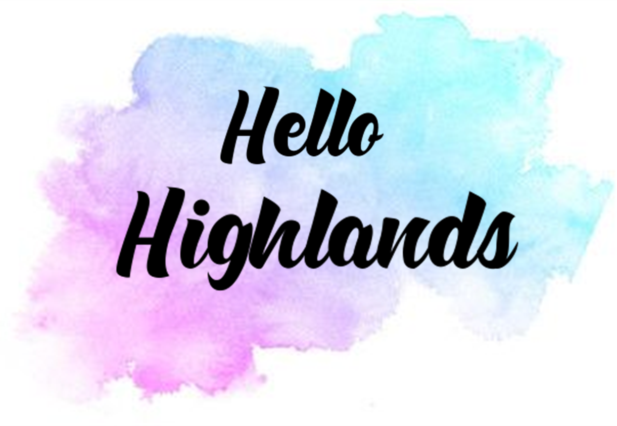 hello highlands sign