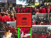 Winnsboro Elementary 3rd graders during Safety day activities