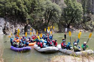6th Grade Students Rafting on the Feather River