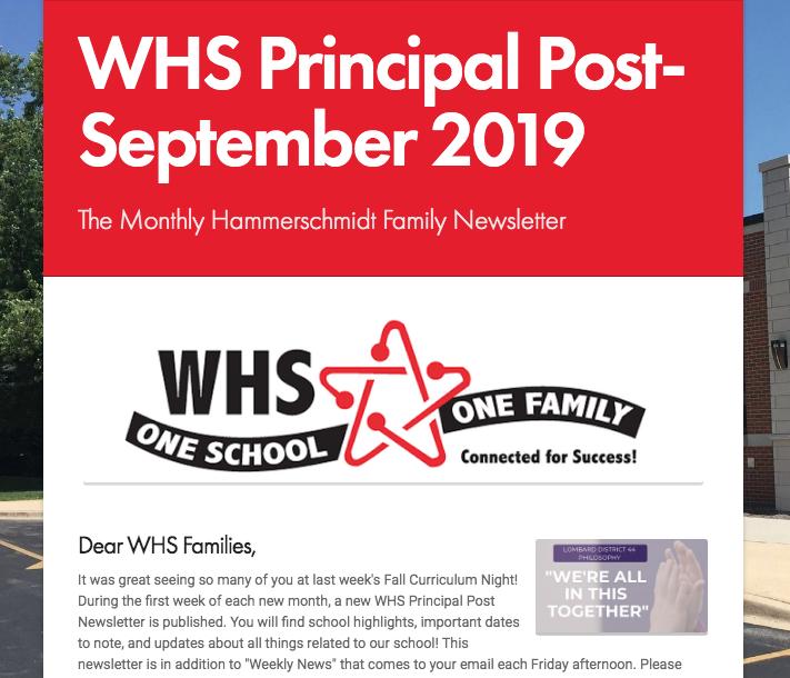 Sept. 2019 Principal Post Newsletter Thumbnail Image