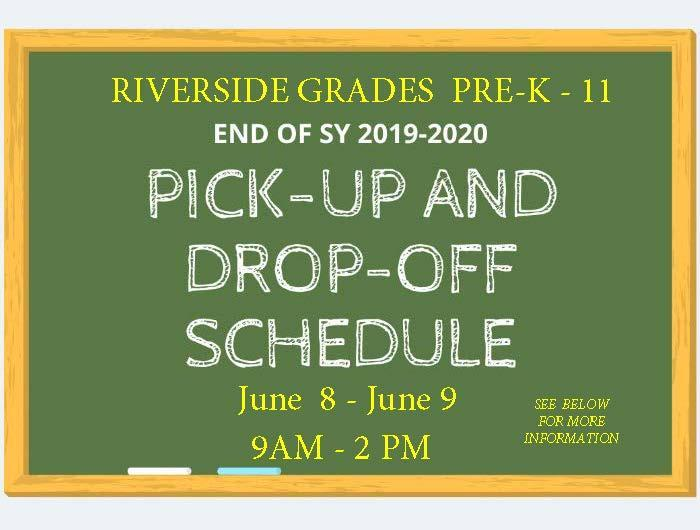 Riverside School District Drop Off and Pick Up Procedure June 8 & June9 Featured Photo