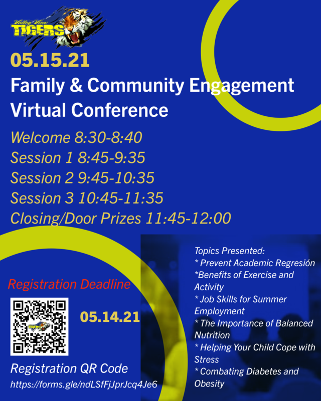 FAMILY & COMMUNITY ENGAGEMENT VIRTUAL CONFERENCE/ CONFERENCIA VIRTUAL DE COMPROMISO FAMILIAR Y COMUNITARIO Thumbnail Image