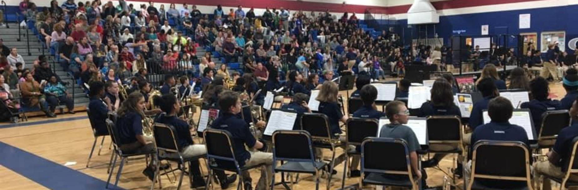 Band Performs at Winter Fine Arts Program