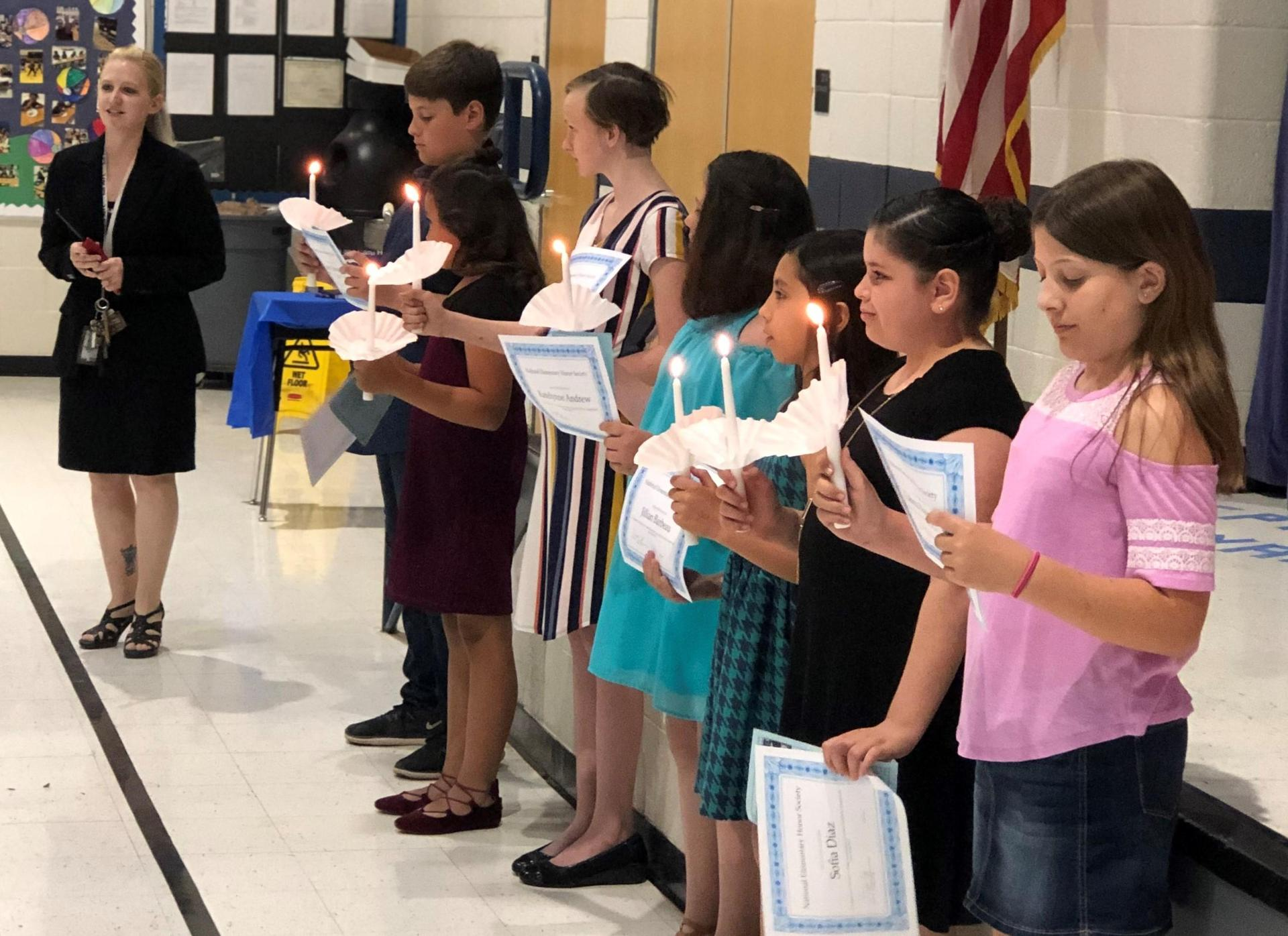 National Elementary Honors Society Induction Ceremony