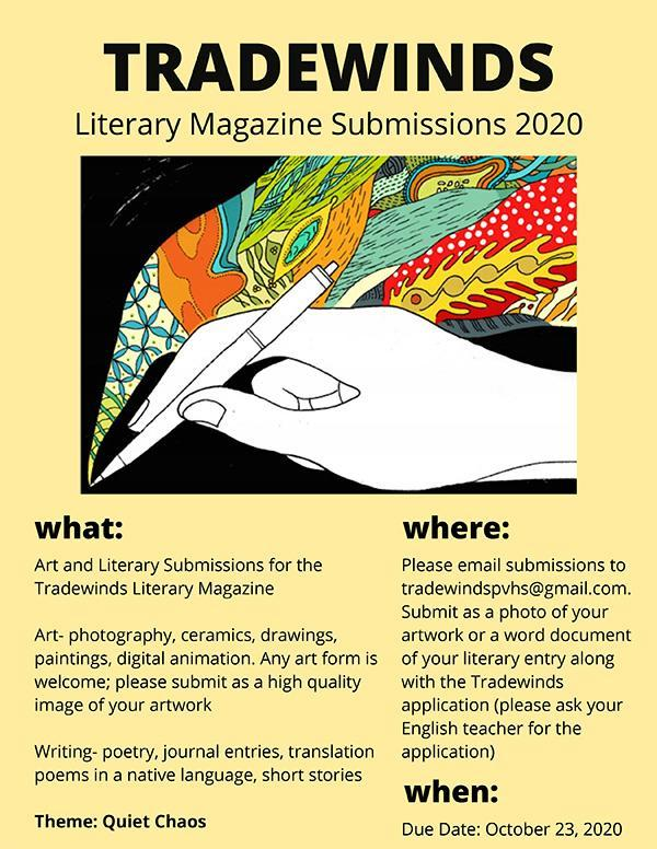 Tradewinds Magazine submission flyer 2020
