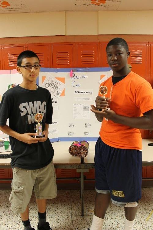 winning a small trophy