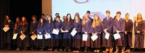 Gananda's newest Math National Honor Society inductees join the existing members.