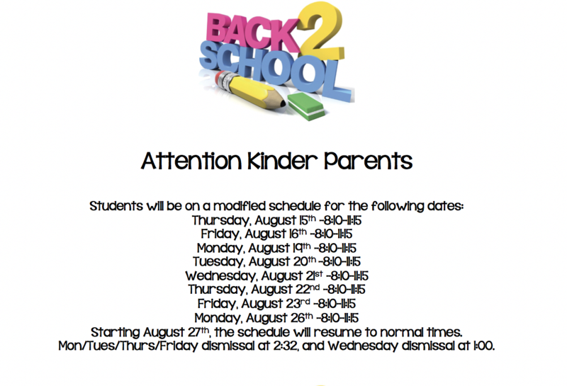 Kinder Schedule!!! Featured Photo