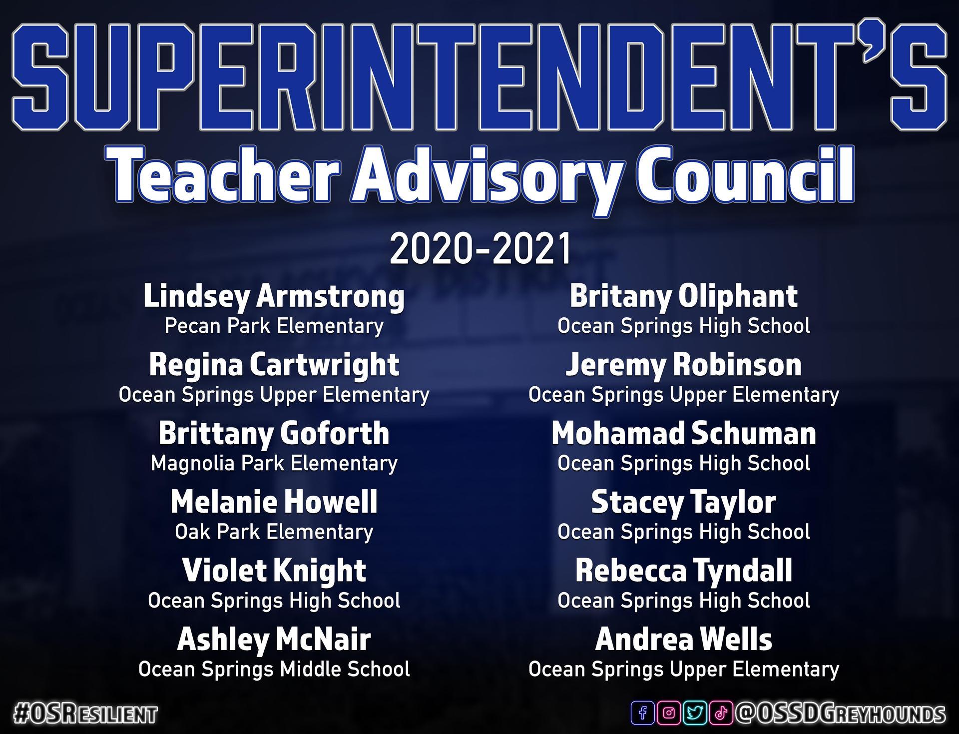 OSSD Teacher Advisory Council