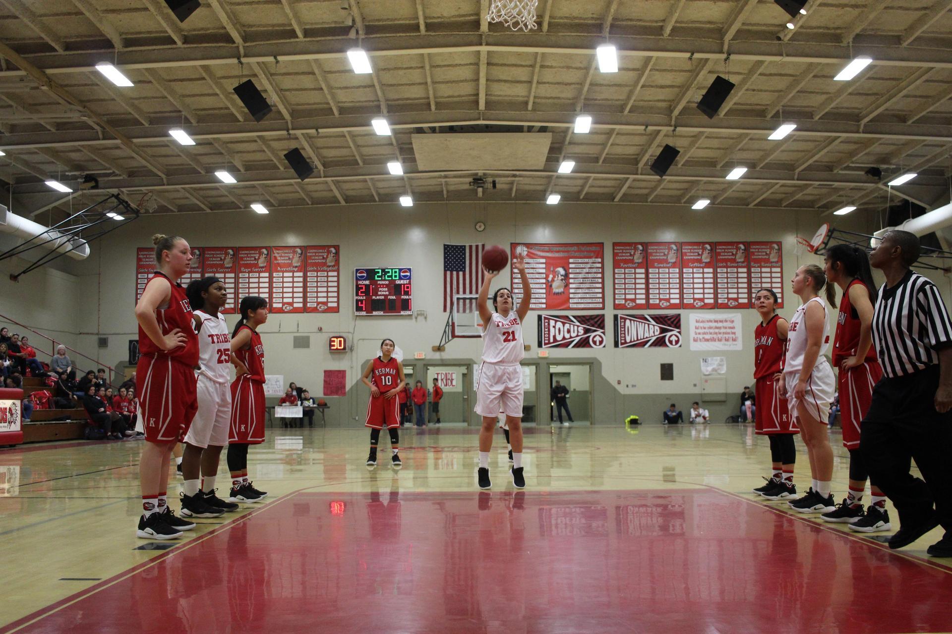 Athletes at Basketball Game vs Kerman