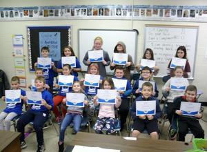 Classroom spelling bee winners.