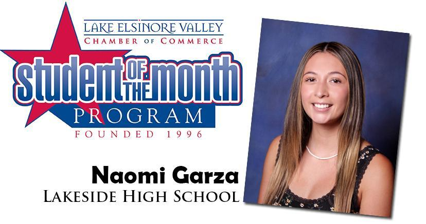 Naomi Garza, Lakeside HS, is one of our Student of the Month Program honorees for December. Congratulations!