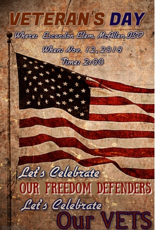 Veteran's Day Assembly Invitation