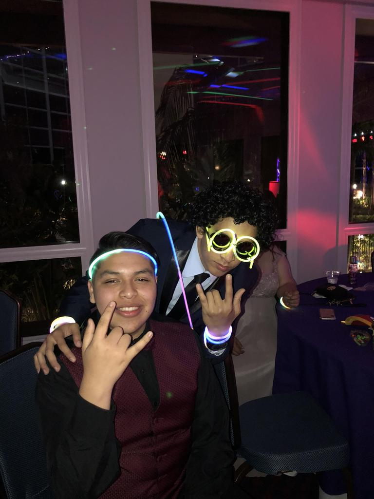 Students get silly at prom