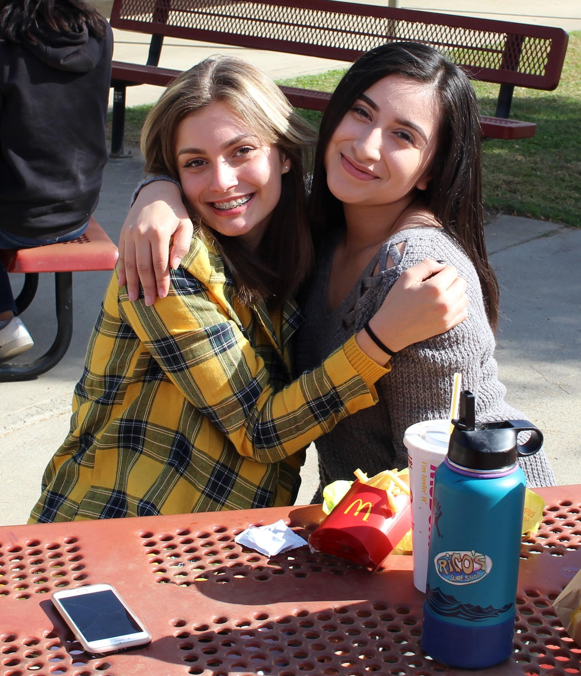 Kirsta Pitarre and Azucena Vazquez at lunch